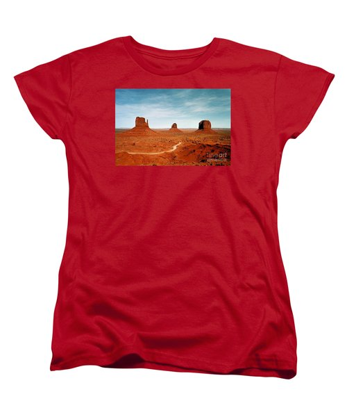 Women's T-Shirt (Standard Cut) featuring the photograph Monument Valley by The Art of Alice Terrill