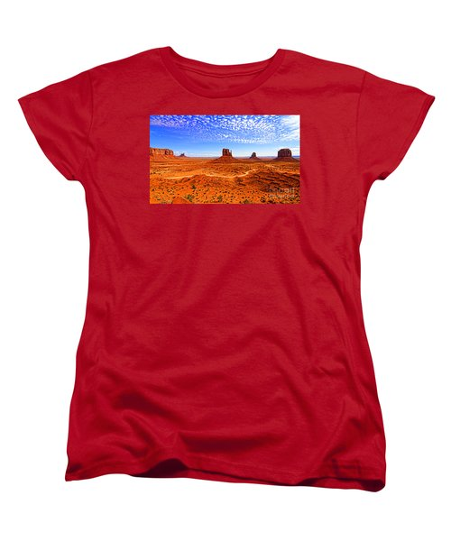 Monument Valley Women's T-Shirt (Standard Cut) by Jason Abando