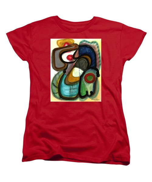 Women's T-Shirt (Standard Cut) featuring the painting Moody Blues by Stephen Lucas