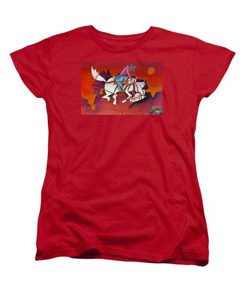 Moonlight Ride Women's T-Shirt (Standard Cut) by Bern Miller