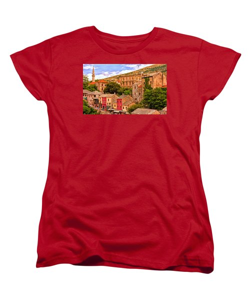 Mostar Women's T-Shirt (Standard Cut) by Michael Pickett