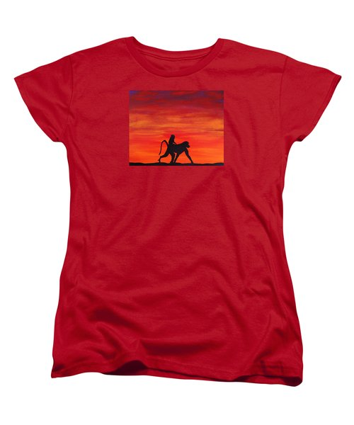 Women's T-Shirt (Standard Cut) featuring the painting Mother Africa 4 by Michael Cross
