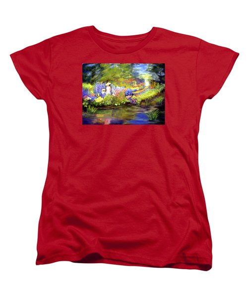 Women's T-Shirt (Standard Cut) featuring the painting Mother And Daughter by Gail Kirtz