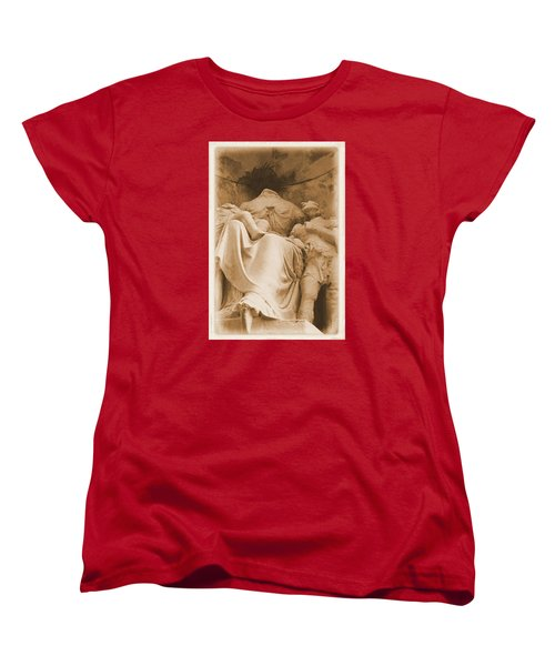 Women's T-Shirt (Standard Cut) featuring the photograph Mother With Children by Nadalyn Larsen