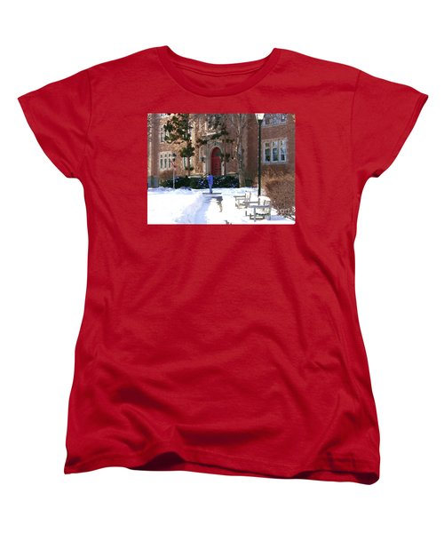 Abstract - Red Door Of Ettinger Women's T-Shirt (Standard Cut) by Jacqueline M Lewis