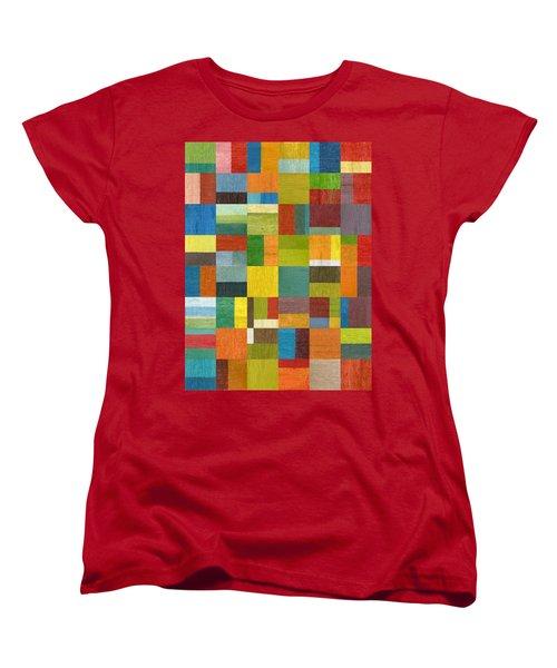 Multiple Exposures Lv Women's T-Shirt (Standard Cut) by Michelle Calkins