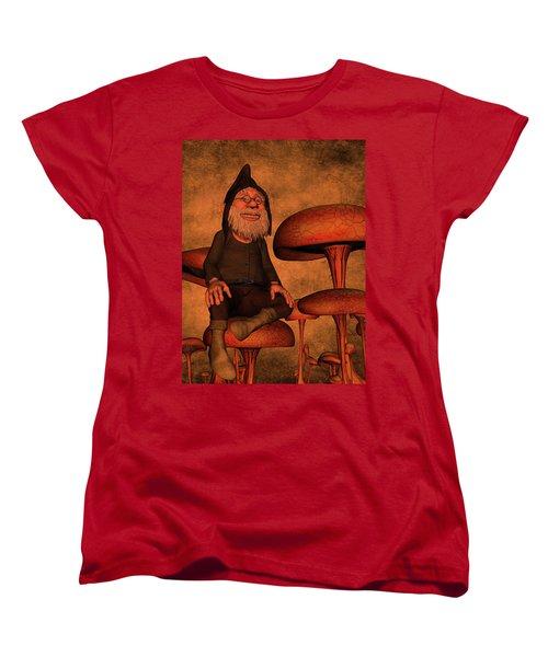 Women's T-Shirt (Standard Cut) featuring the digital art My Beautiful World by Gabiw Art
