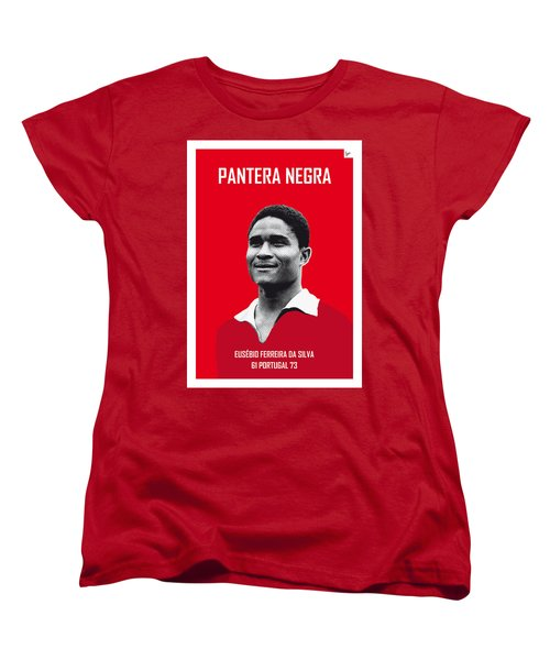 My Eusebio Soccer Legend Poster Women's T-Shirt (Standard Cut) by Chungkong Art