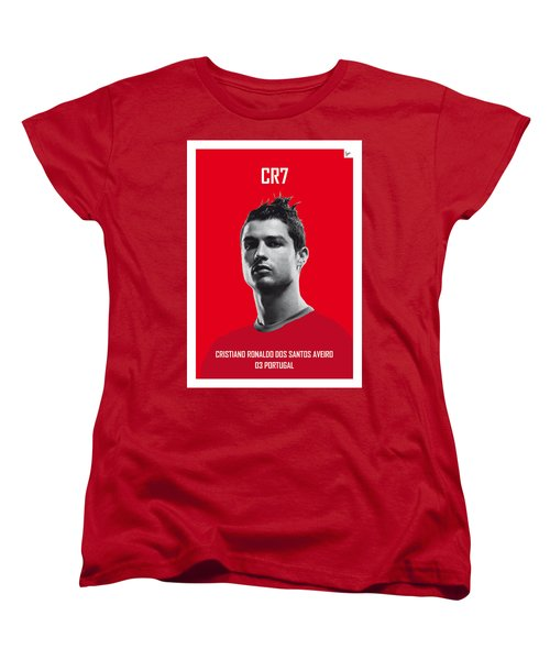 My Ronaldo Soccer Legend Poster Women's T-Shirt (Standard Cut) by Chungkong Art
