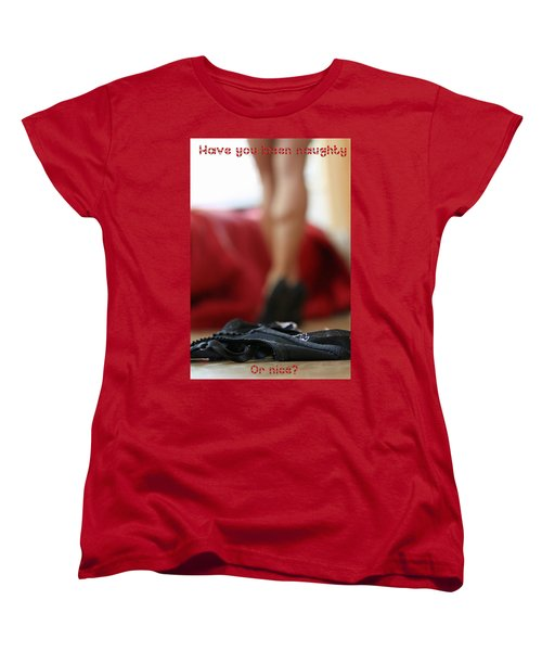 Naughty Or Nice Women's T-Shirt (Standard Cut) by Shoal Hollingsworth