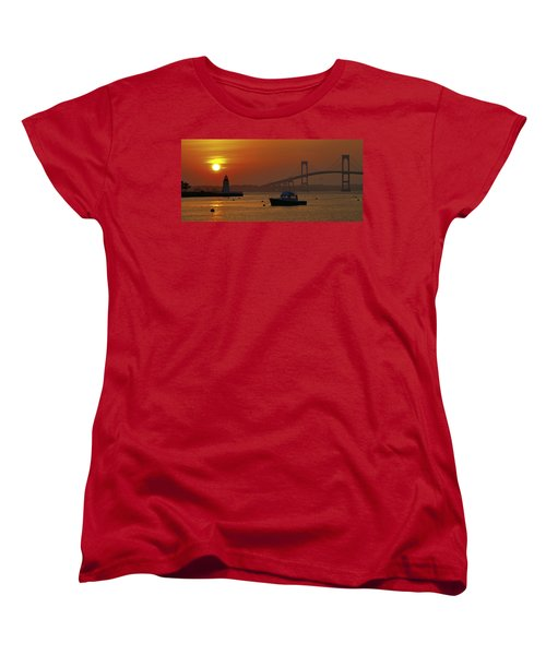 Newport Sunset Women's T-Shirt (Standard Cut) by Lou Ford