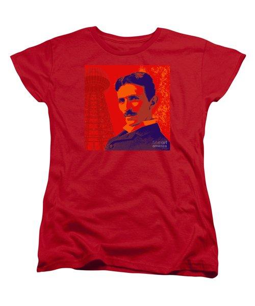 Nikola Tesla #1 Women's T-Shirt (Standard Cut) by Jean luc Comperat