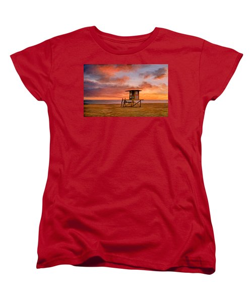 No Lifeguard On Duty At The Wedge Women's T-Shirt (Standard Cut) by Michael Pickett