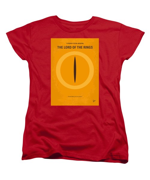 No039 My Lord Of The Rings Minimal Movie Poster Women's T-Shirt (Standard Cut)