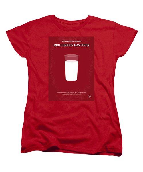No138 My Inglourious Basterds Minimal Movie Poster Women's T-Shirt (Standard Cut) by Chungkong Art