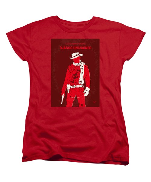 No184 My Django Unchained Minimal Movie Poster Women's T-Shirt (Standard Cut)