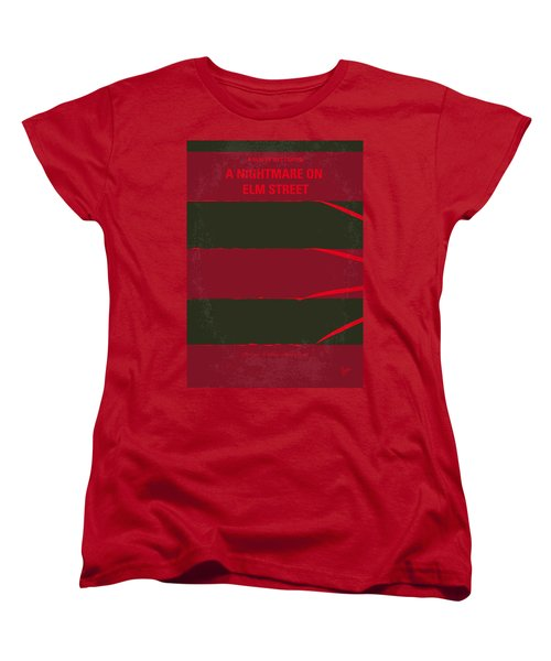 No265 My Nightmare On Elmstreet Minimal Movie Poster Women's T-Shirt (Standard Cut) by Chungkong Art