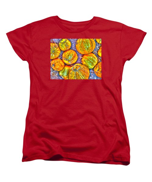 Noisy Lemon Cucumbers Women's T-Shirt (Standard Cut) by Joe Schofield