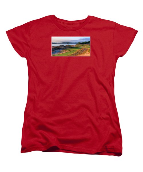 Women's T-Shirt (Standard Cut) featuring the photograph North By Northwest - Chambers Bay Golf Course by Chris Anderson