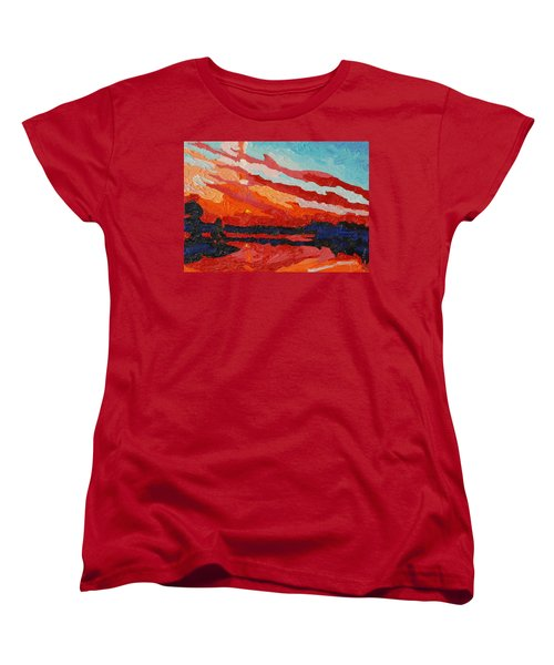 November Sunset Women's T-Shirt (Standard Cut) by Phil Chadwick