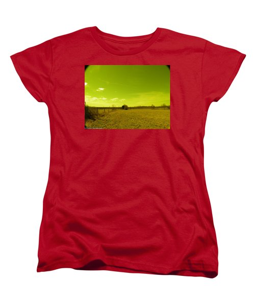 Women's T-Shirt (Standard Cut) featuring the photograph Nuclear Fencerow by Nick Kirby