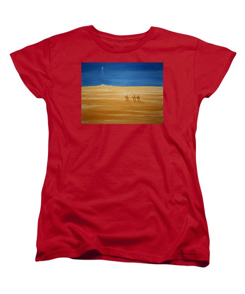 Women's T-Shirt (Standard Cut) featuring the painting Oh Holy Night by Stacy C Bottoms