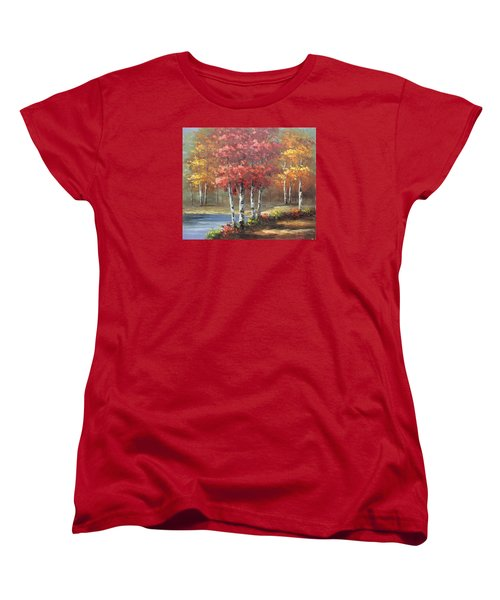 Oil Msc 049 Women's T-Shirt (Standard Cut) by Mario Sergio Calzi