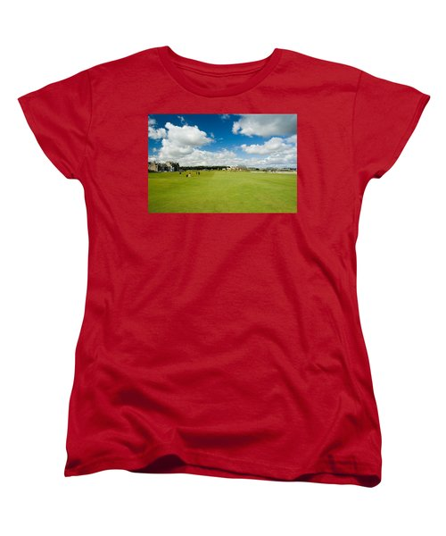 Old Course Fairways Women's T-Shirt (Standard Cut) by Jeremy Voisey