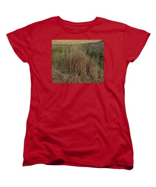 Old Fence Line Women's T-Shirt (Standard Cut) by Donald S Hall