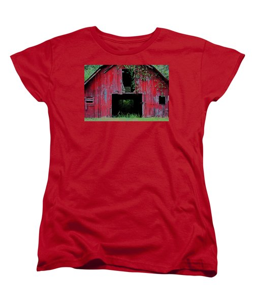 Old Red Barn IIi Women's T-Shirt (Standard Cut) by Lanita Williams
