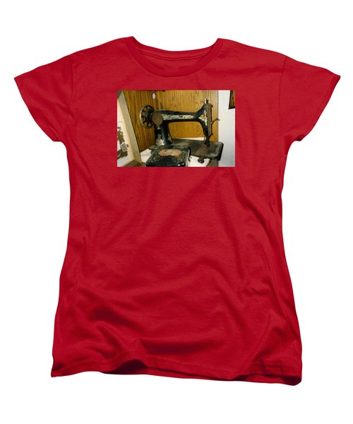 Old Sewing Machine Women's T-Shirt (Standard Cut) by Amazing Photographs AKA Christian Wilson
