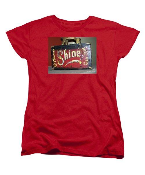 Old Shoe Shine Kit Women's T-Shirt (Standard Cut) by Pamela Walrath