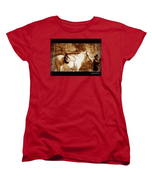 Women's T-Shirt (Standard Cut) featuring the photograph Old Spain by Clare Bevan