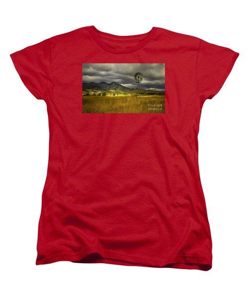 Old Windmill Women's T-Shirt (Standard Cut) by Robert Bales