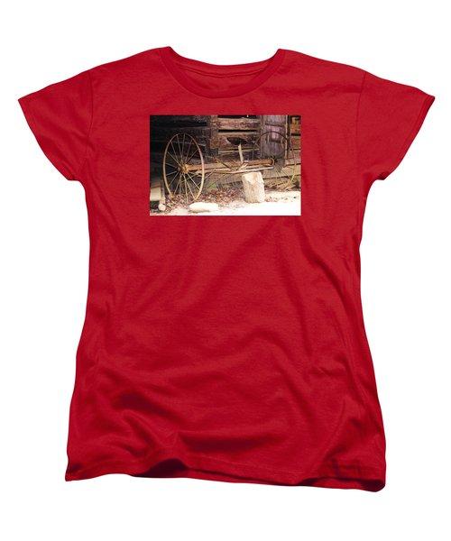 Women's T-Shirt (Standard Cut) featuring the photograph Ole Wheely by Faith Williams