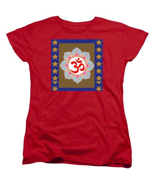 Women's T-Shirt (Standard Cut) featuring the photograph Om Mantra Ommantra Chant Yoga Meditation Tool by Navin Joshi