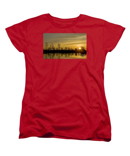 Women's T-Shirt (Standard Cut) featuring the photograph On Golden Pond by Nick  Boren