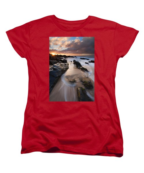 On The Rocks Women's T-Shirt (Standard Cut) by Mike  Dawson