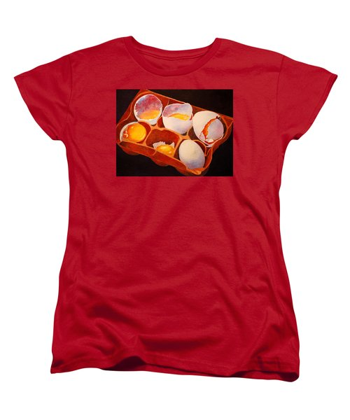 One Good Egg Women's T-Shirt (Standard Cut) by Roger Rockefeller