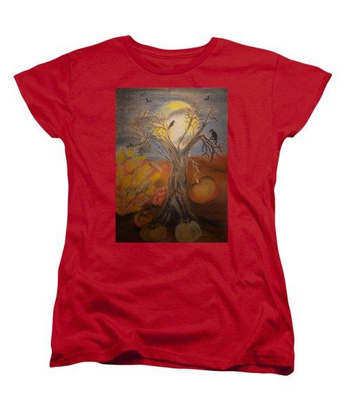 One Hallowed Eve Women's T-Shirt (Standard Cut) by Maria Urso