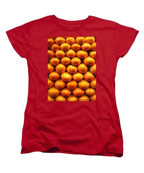 Onions Women's T-Shirt (Standard Cut) by Leena Pekkalainen