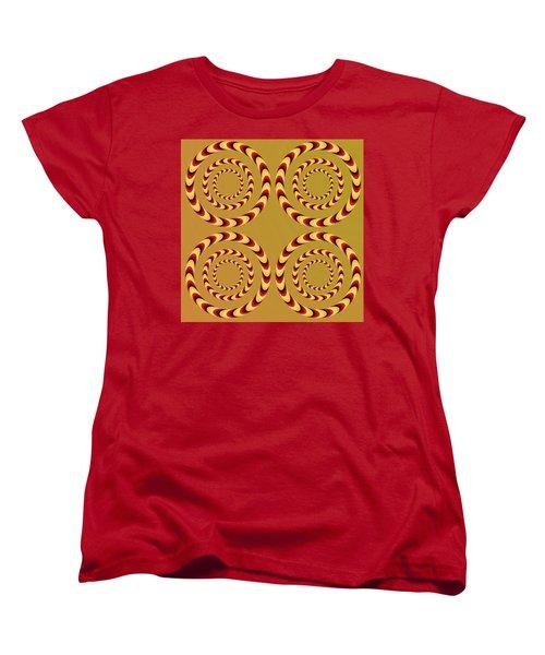 Optical Ilusions Summer Spin Women's T-Shirt (Standard Cut) by Sumit Mehndiratta