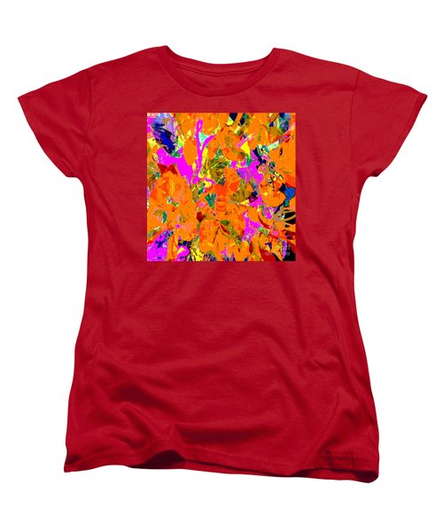 Orange Abstract Women's T-Shirt (Standard Cut) by Barbara Moignard