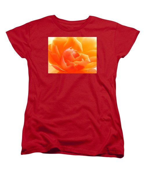 Women's T-Shirt (Standard Cut) featuring the photograph Orange Sherbet by Deb Halloran