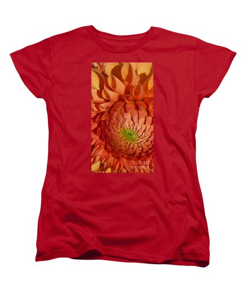 Women's T-Shirt (Standard Cut) featuring the photograph Orange Sherbet Delight Dahlia by Susan Garren