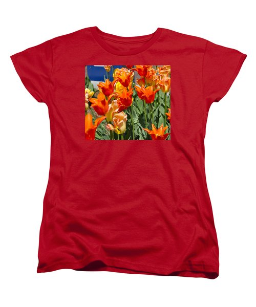 Orange Tulips Women's T-Shirt (Standard Cut)
