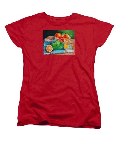 Women's T-Shirt (Standard Cut) featuring the drawing Oranges by Joy Nichols