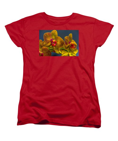 Orchid Color Women's T-Shirt (Standard Cut) by Marvin Spates