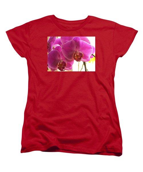 Women's T-Shirt (Standard Cut) featuring the photograph Orchid by Lingfai Leung