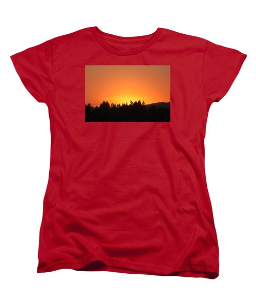 Women's T-Shirt (Standard Cut) featuring the photograph Oregon Sunset by Melanie Lankford Photography